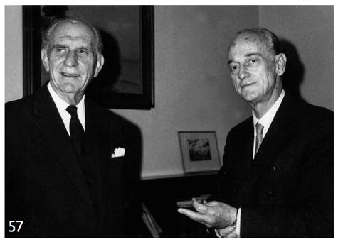 Γεώργιος Παπανδρέου - Γέρος της Δημοκρατίας (αριστερά) και ο Παναγιώτης Κανελλόπουλος (δεξιά)